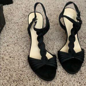 Black T-Strap Evening Shoes